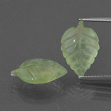 thumb image of 5.3ct Carved Leaf Green Prehnite (ID: 418334)