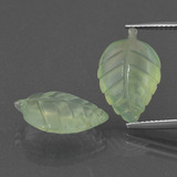 thumb image of 13.1ct Carved Leaf Green Prehnite (ID: 418336)