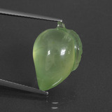 thumb image of 16.6ct Carved Fruit Green Prehnite (ID: 418439)