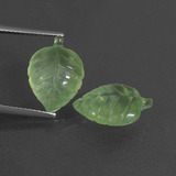 thumb image of 9.6ct Carved Leaf Green Prehnite (ID: 418445)
