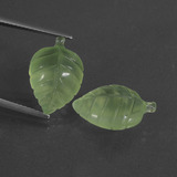 thumb image of 12.4ct Carved Leaf Green Prehnite (ID: 418447)