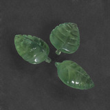 thumb image of 21.4ct Carved Leaf Green Prehnite (ID: 418625)