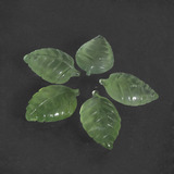 thumb image of 22.2ct Carved Leaf Green Prehnite (ID: 418630)