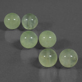 thumb image of 57.1ct Drilled Sphere Green Prehnite (ID: 423118)
