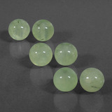 thumb image of 55.1ct Drilled Sphere Green Prehnite (ID: 423119)