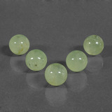 thumb image of 47.5ct Drilled Sphere Green Prehnite (ID: 423120)