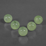thumb image of 47.8ct Drilled Sphere Green Prehnite (ID: 423121)