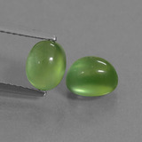 thumb image of 2.6ct Oval Cabochon Green Prehnite (ID: 449985)