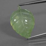 thumb image of 8.1ct Carved Leaf Green Prehnite (ID: 454613)