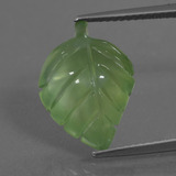 thumb image of 6.8ct Carved Leaf Green Prehnite (ID: 454617)