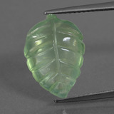 thumb image of 6ct Carved Leaf Green Prehnite (ID: 454618)