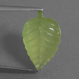 thumb image of 8ct Carved Leaf Green Prehnite (ID: 454719)