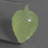 thumb image of 11.8ct Carved Leaf Green Prehnite (ID: 454722)