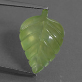 thumb image of 10.3ct Carved Leaf Green Prehnite (ID: 454723)
