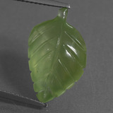 thumb image of 7.8ct Carved Leaf Green Prehnite (ID: 454900)