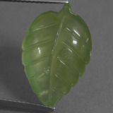 thumb image of 10.1ct Carved Leaf Green Prehnite (ID: 454904)