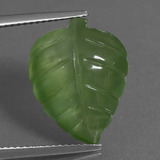 thumb image of 9.8ct Carved Leaf Green Prehnite (ID: 454908)