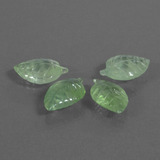 thumb image of 19.8ct Carved Leaf Green Prehnite (ID: 455164)