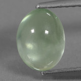 thumb image of 1.4ct Oval Cabochon Green Prehnite (ID: 459263)
