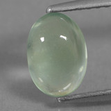 thumb image of 1.2ct Oval Cabochon Green Prehnite (ID: 459265)