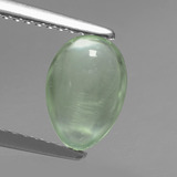 thumb image of 1.3ct Pear Cabochon Green Prehnite (ID: 459301)