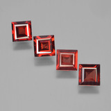 thumb image of 2.5ct Square Facet Red Pyrope Garnet (ID: 450146)
