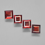 thumb image of 2.4ct Square Facet Red Pyrope Garnet (ID: 450149)
