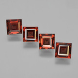 thumb image of 2.6ct Square Step-Cut Red Pyrope Garnet (ID: 450947)