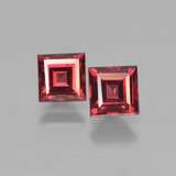 thumb image of 0.9ct 正方形阶梯切割 Deep Wine Red 镁铝榴石 (ID: 450965)