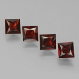 thumb image of 2.9ct Princess-Cut Red Pyrope Garnet (ID: 451312)