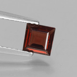thumb image of 0.7ct Square Step-Cut Red Pyrope Garnet (ID: 451352)