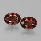 thumb image of 3.1ct Oval Facet Red Pyrope Garnet (ID: 451731)