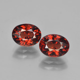 thumb image of 3.6ct Oval Facet Red Pyrope Garnet (ID: 451733)