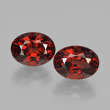 thumb image of 3.6ct Oval Facet Red Pyrope Garnet (ID: 451762)