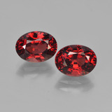 thumb image of 3.6ct Oval Facet Red Pyrope Garnet (ID: 451768)