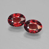 thumb image of 2.9ct Ovale facette Rouge Grenat Pyrope (ID: 451769)