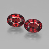 thumb image of 3.3ct Oval Facet Red Pyrope Garnet (ID: 451774)