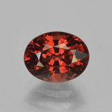 thumb image of 1.8ct Oval Facet Red Pyrope Garnet (ID: 451814)