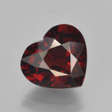 thumb image of 3.4ct Heart Facet Red Pyrope Garnet (ID: 451885)