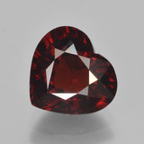 thumb image of 3.3ct Heart Facet Red Pyrope Garnet (ID: 451886)
