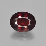 thumb image of 3.4ct Oval Facet Red Pyrope Garnet (ID: 451912)