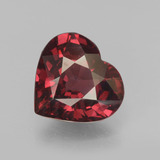 thumb image of 3.3ct Heart Facet Red Pyrope Garnet (ID: 451927)