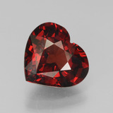 thumb image of 3.3ct Heart Facet Red Pyrope Garnet (ID: 451930)