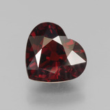 thumb image of 3ct Heart Facet Red Pyrope Garnet (ID: 451935)