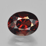 thumb image of 3.5ct Oval Facet Red Pyrope Garnet (ID: 451958)