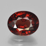 thumb image of 3.6ct Oval Facet Red Pyrope Garnet (ID: 451959)