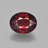 thumb image of 3.5ct Oval Facet Red Pyrope Garnet (ID: 451974)
