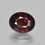 thumb image of 4ct Oval Facet Red Pyrope Garnet (ID: 451985)