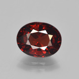 thumb image of 3.5ct Oval Facet Red Pyrope Garnet (ID: 451986)