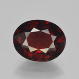 thumb image of 3.4ct Oval Facet Red Pyrope Garnet (ID: 451991)